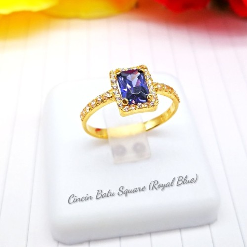 CINCIN BATU SQUARE (ROYAL BLUE)