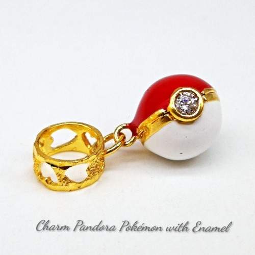 CHARM PANDORA POKEMON WITH ENAMEL