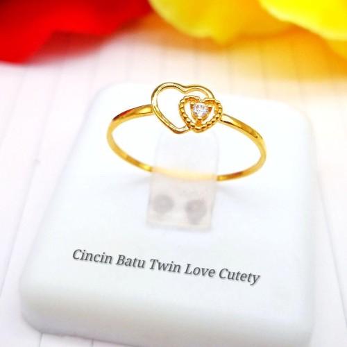 CINCIN BATU TWIN LOVE CUTETY